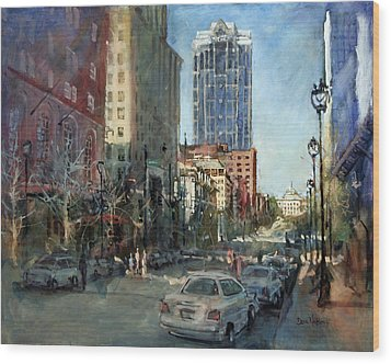 Watch Over Fayetteville Street Wood Print