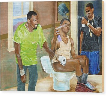 Watch The Throne Wood Print by Reuben Cheatem