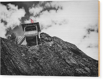 Watch Tower Wood Print by Ryan Wyckoff