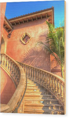 Watch Your Step And Welcome Wood Print by Heidi Smith