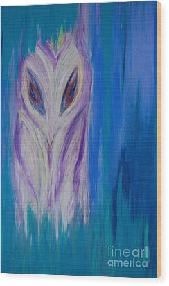 Watcher In The Blue Wood Print by First Star Art