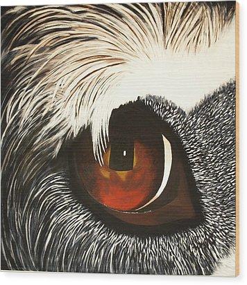 Watchful Wood Print by Lisbet Damgaard