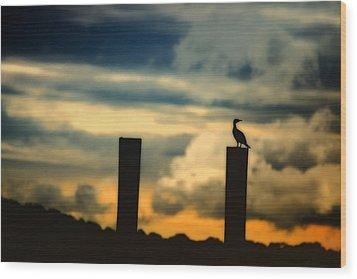 Watching The Sunrise Wood Print by Karol Livote