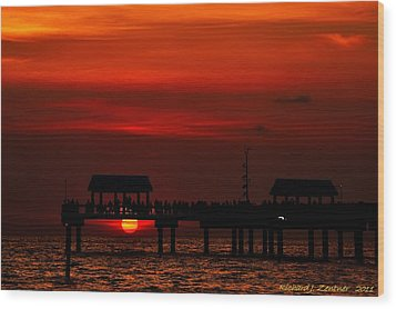Wood Print featuring the photograph Watching The Sunset by Richard Zentner
