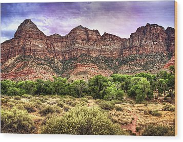 Wood Print featuring the photograph Watchman Trail - Zion by Tammy Wetzel