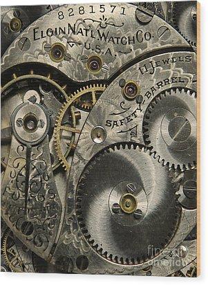 Watchworks Wood Print by Deborah Smith