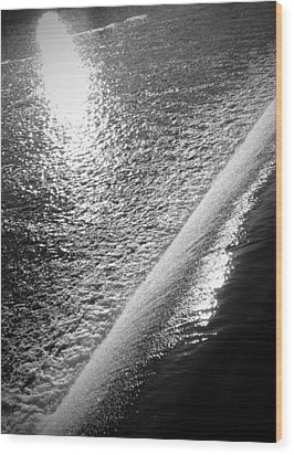 Wood Print featuring the photograph Water And Light by Photographic Arts And Design Studio