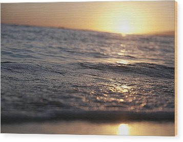Water At Sunset Wood Print by Brandon Tabiolo