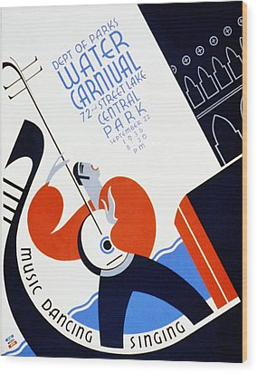 Water Carnival Poster 1936 Wood Print by Bill Cannon