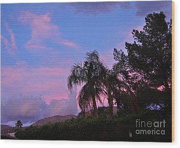 Water Colored Sky Wood Print
