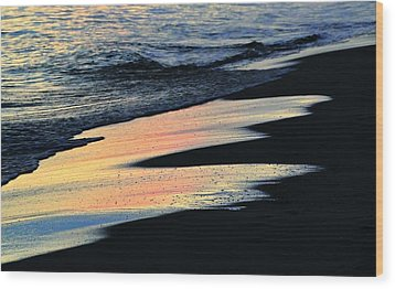 Water Colors .. Wood Print by Michael Thomas