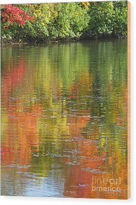 Wood Print featuring the photograph Water Colors by Ann Horn