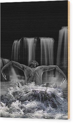Water Dance Wood Print