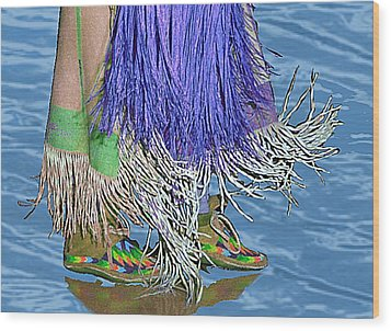 Water Dancing Wood Print by Kae Cheatham