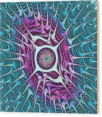 Water Dragon Eye Wood Print by Anastasiya Malakhova