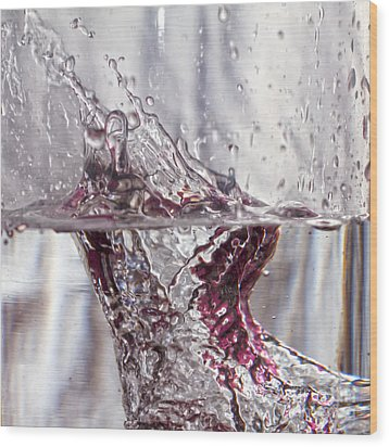 Water Drops Abstract  Wood Print by Stelios Kleanthous