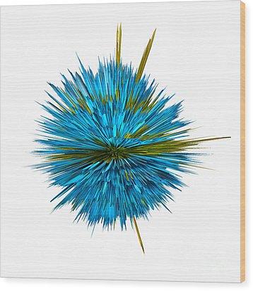 Water Explosion Wood Print by Kaye Menner