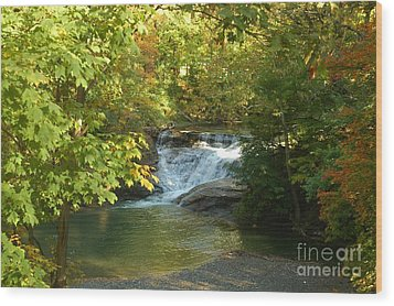 Water Falls Wood Print by Kathleen Struckle