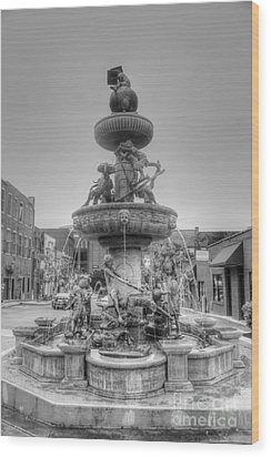 Water Fountain Wood Print by Kathleen Struckle