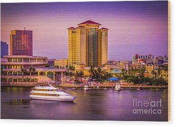 Water Front Tampa Wood Print by Marvin Spates