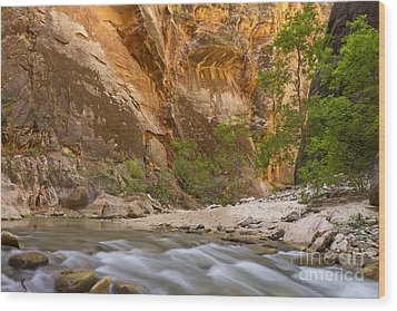 Wood Print featuring the photograph Water In The Narrows by Bryan Keil