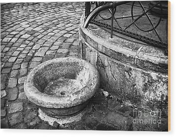 Water In The Square Wood Print by John Rizzuto