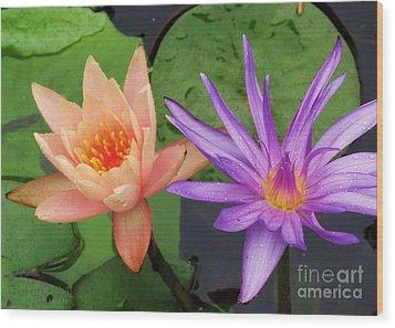 Water Lilies 011 Wood Print