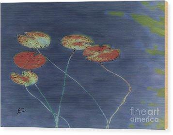 Water Lilies 2 Wood Print