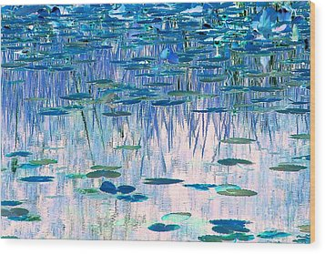 Water Lilies Wood Print by Chris Anderson