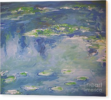Water Lilies Giverny Wood Print by Eric  Schiabor