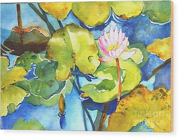 Water Lily Wood Print by Betty M M   Wong