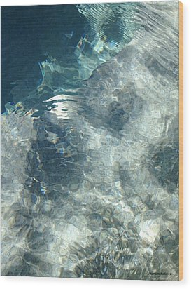 Water Wood Print by Marian Palucci-Lonzetta