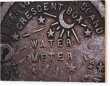 Water Meter Wood Print by John Rizzuto
