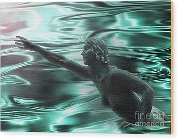 Water Nymph Wood Print by Michelle Orai