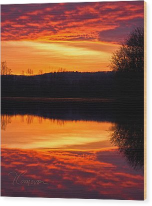 Wood Print featuring the photograph Water On Fire by Tom Cameron