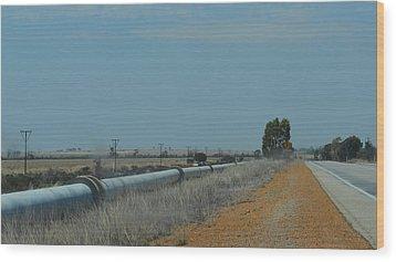 Water Pipeline Wood Print