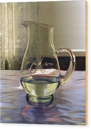 Water Pitcher Wood Print