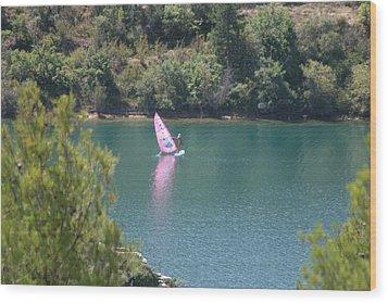 Pink Water Play Wood Print