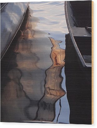 Water Reflections Abstract Wood Print
