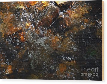 Wood Print featuring the photograph Water Rocks by Allen Carroll