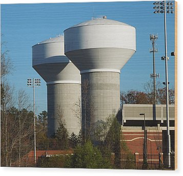 Wood Print featuring the photograph Water Tanks by Pete Trenholm