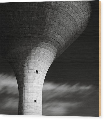 Water Tower Wood Print by Dave Bowman