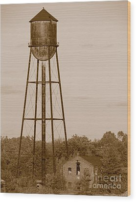 Water Tower Wood Print by Olivier Le Queinec