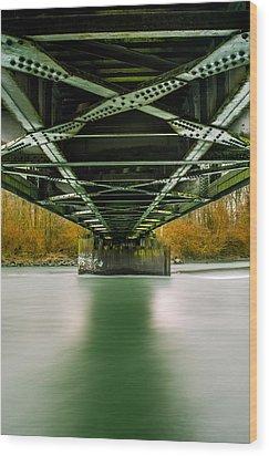Water Under The Bridge 2 Wood Print