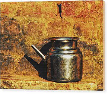 Water Vessel Wood Print by Prakash Ghai