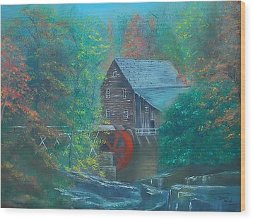 Water Wheel House  Wood Print by Dawn Nickel
