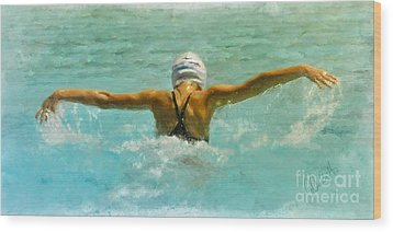 Water Wings Wood Print by Andrea Auletta