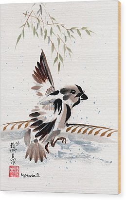 Wood Print featuring the painting Water Wings by Bill Searle