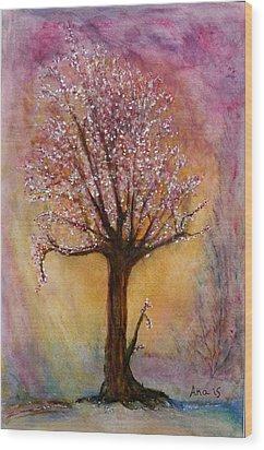 Watercolor Wood Print by Anais DelaVega
