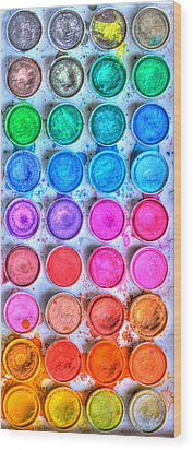 Watercolor Delight Wood Print by Heidi Smith